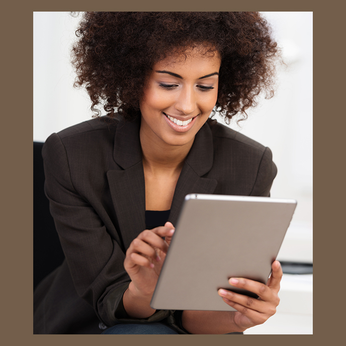 Busy woman with laptop