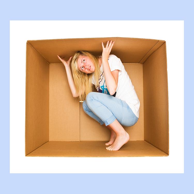 Lenten Trap Woman in box