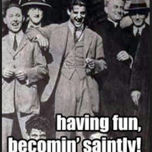 Piergiorgio Frassati laughing with friends
