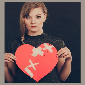 Woman with healed heart