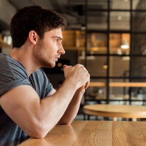 Man pondering how to forgive