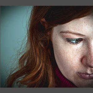Woman with hurt feelings.