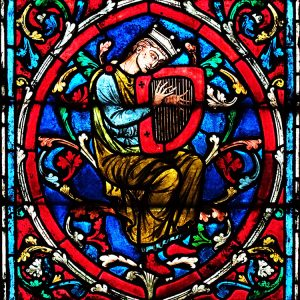 King David stained glass window