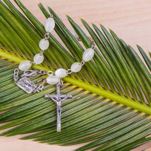 Rosary and palm frond