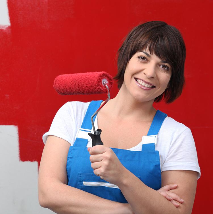 woman doing renovation